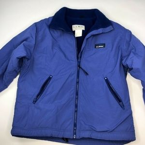 Vintage LL Bean Warm Up Jacket Small Blue Fleece